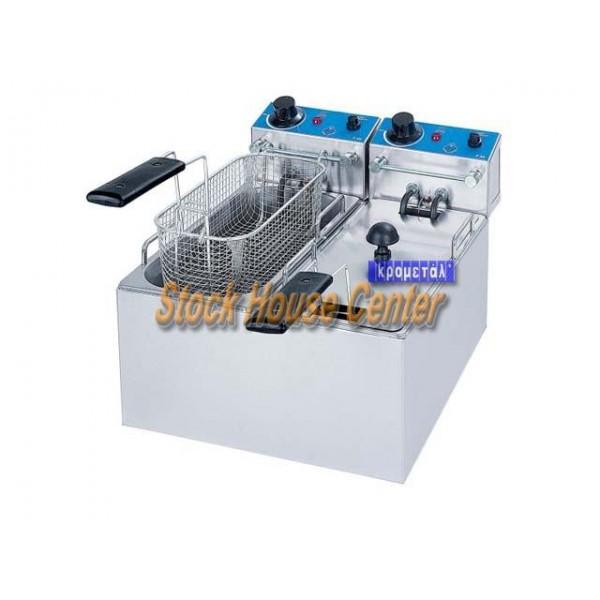 Φριτέζα ηλεκτρική Μ&Μ F40 / 4Lt+4Lt
