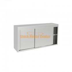 Ποτηριέρα-πιατοθήκη με ανοξείωτα συρόμενα 100cm