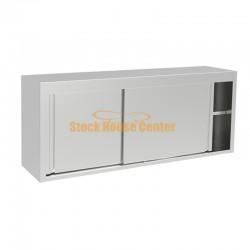 Ποτηριέρα-πιατοθήκη με ανοξείωτα συρόμενα 180cm