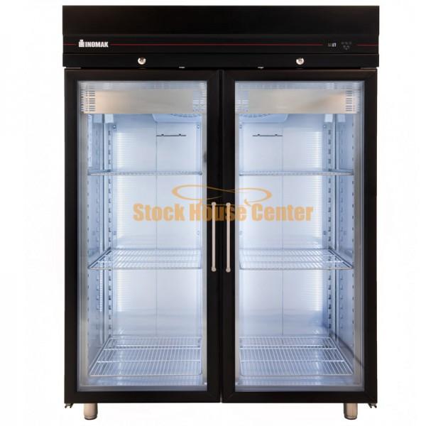 Ψυγείο θάλαμος κατάψυξη ΙΝΟΜΑΚ CFSB2144/GL μαύρο χρώμα