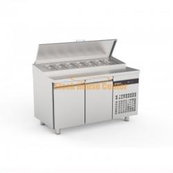 Ψυγείο πίτσας-σαλατών INOMAK 134x70x86cm